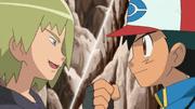 ¡El tercer combate de Ash y Trip!