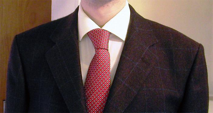 Italian red tie