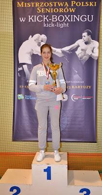 Karolina Gleisner, kickboxing, Zielona Góra, trening, walki, sporty walki, Mistrzostwa Polski, kick light, Kartuzy