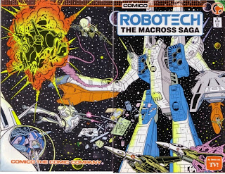 Wraparound cover of Robotech: The Macross Saga #5 from Comico