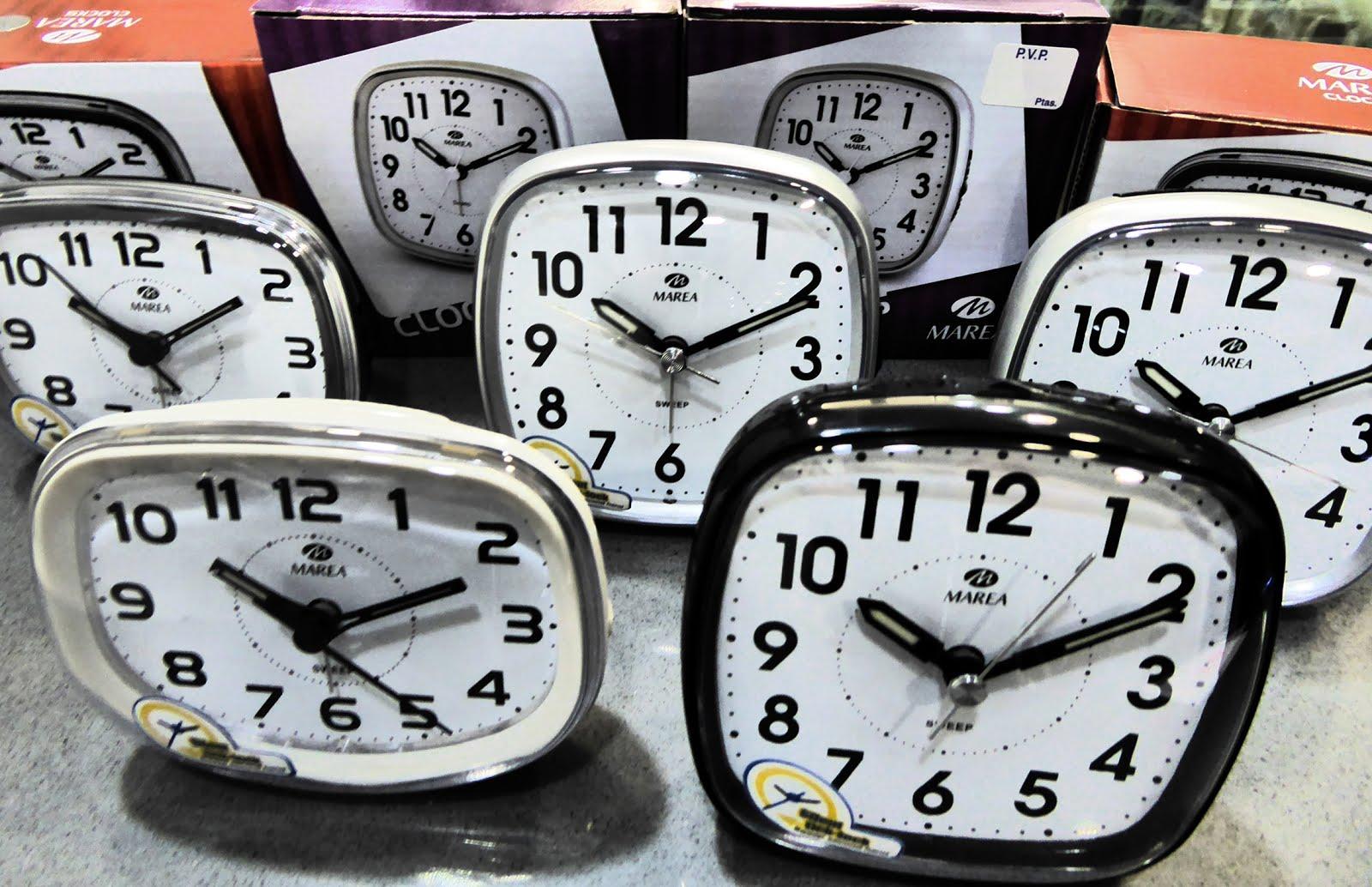 Despertadores Marea, con luz, silenciosos, repetición