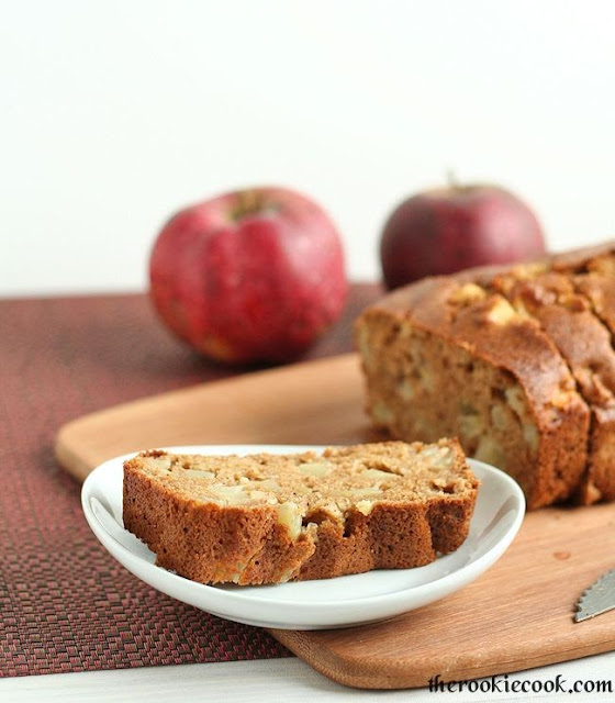 Healthy {Whole-Wheat} Chopped Apple Bread ~ The Rookie Cook
