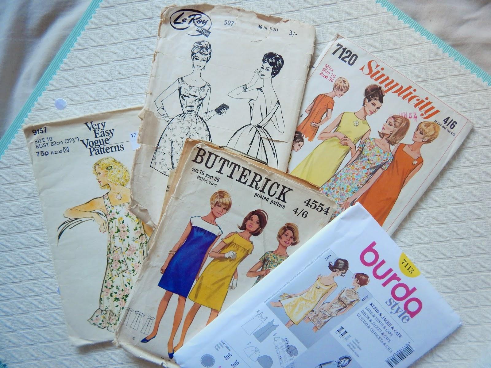 Vintage Sewing Pattern Pledge
