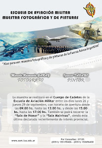 exposicion de fotografas y pinturas en Escuela de Aviacin MIlitar