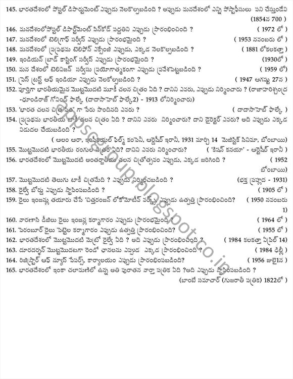 appsc notification 2014 indian history bits mcqs for telugu medium for group 1 and group 2