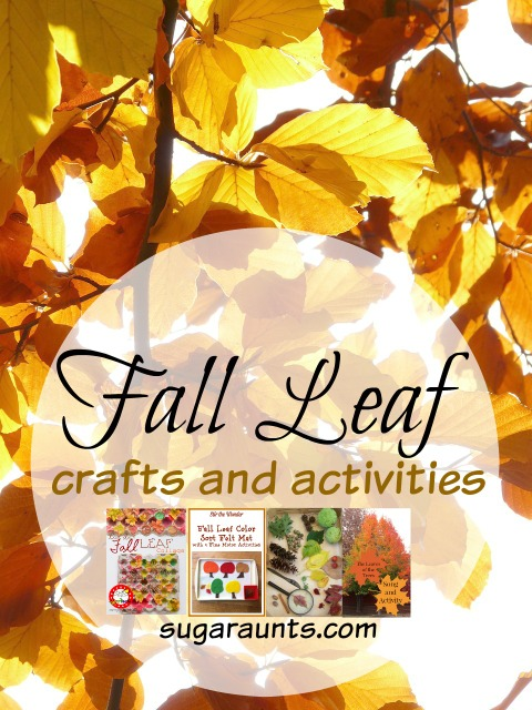 Fall Leaf craft and activity ideas for kids