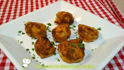buñuelos de coliflor y queso