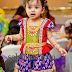 Baby in Purple Benaras Silk Skirt