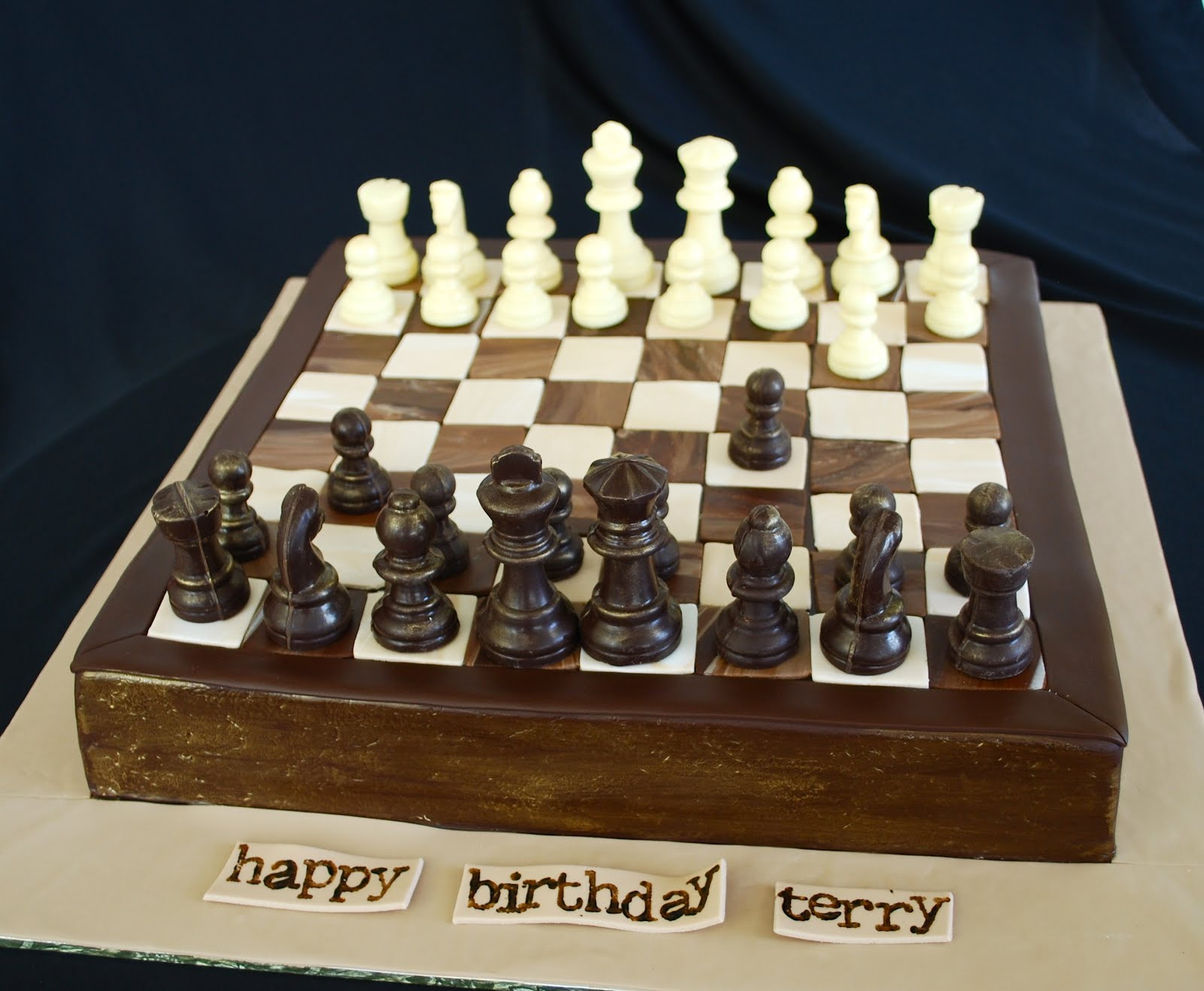 The Beehive Chess Board Cake