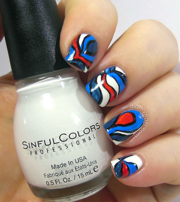 July 4th nail art