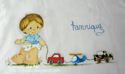 """""""fralda pintada com menino e carrinhos"""""""
