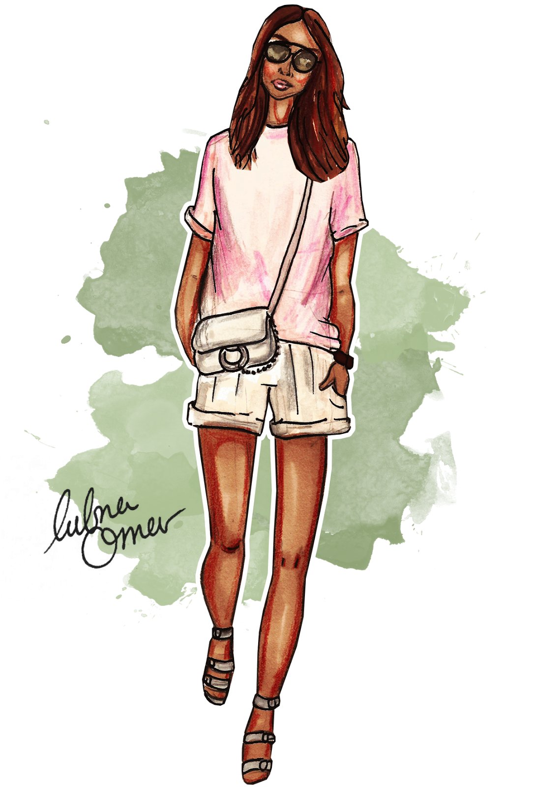 Sincerely Jules fashion illustration by Lubna Omar