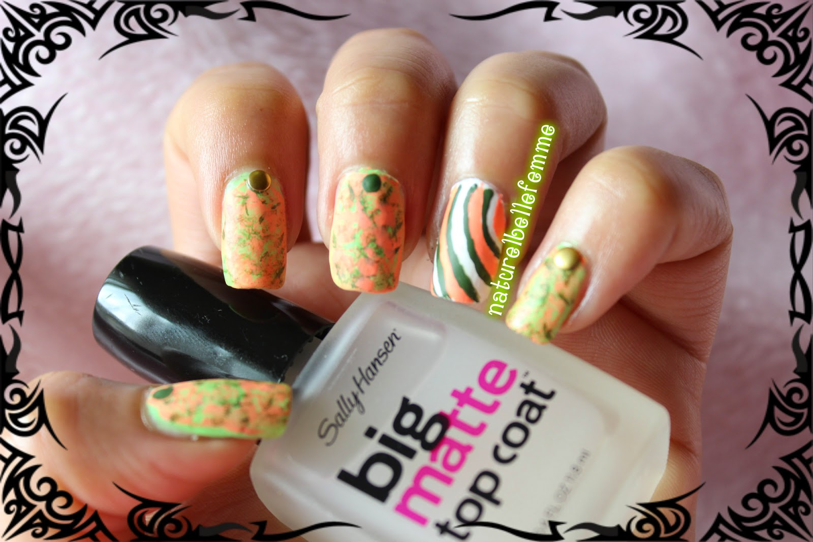 Republic day nail art
