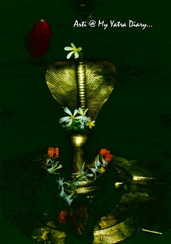 Lord Shiva in the Pataleshwar cave temple in Pune, Maharashtra