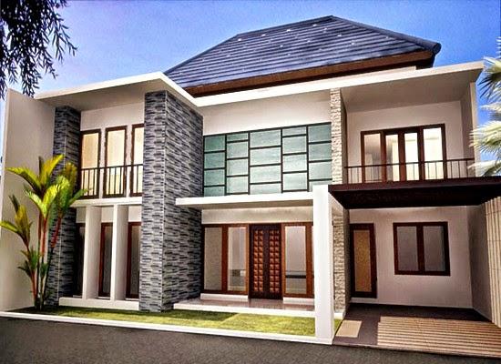 contoh desain rumah 2 lantai minimalis cantik terbaru