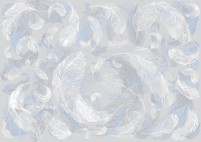 рисунок перья