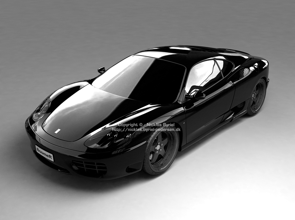 Sports Cars Ferrari Black