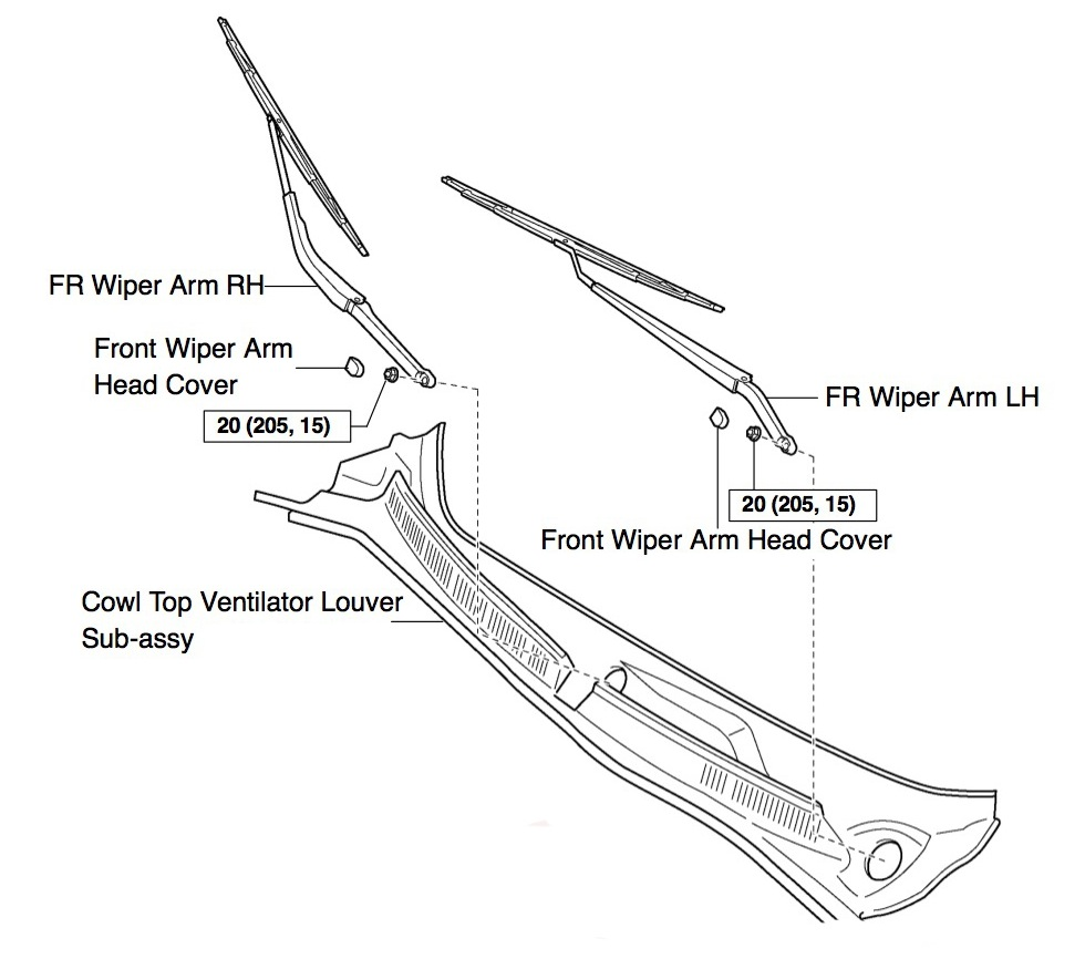 service manual  how to remove 1999 toyota sienna wiper arm