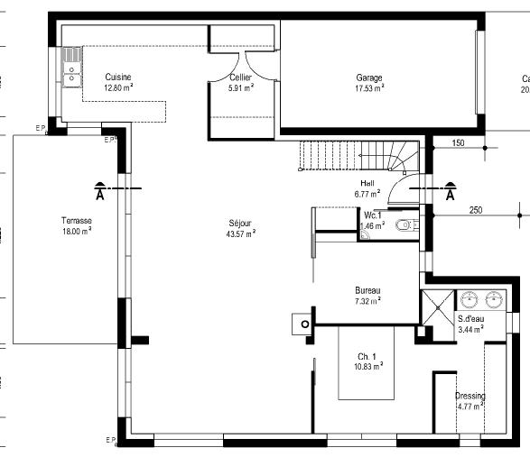 Chambre Avec Salle De Bain Ouverte Et Dressing : Plans de la maison