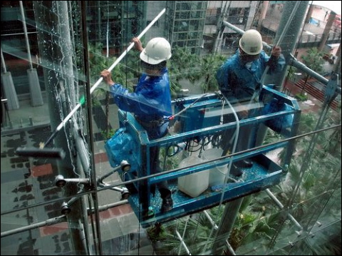 cleaning building windows ranked as least favorite job in taiwan