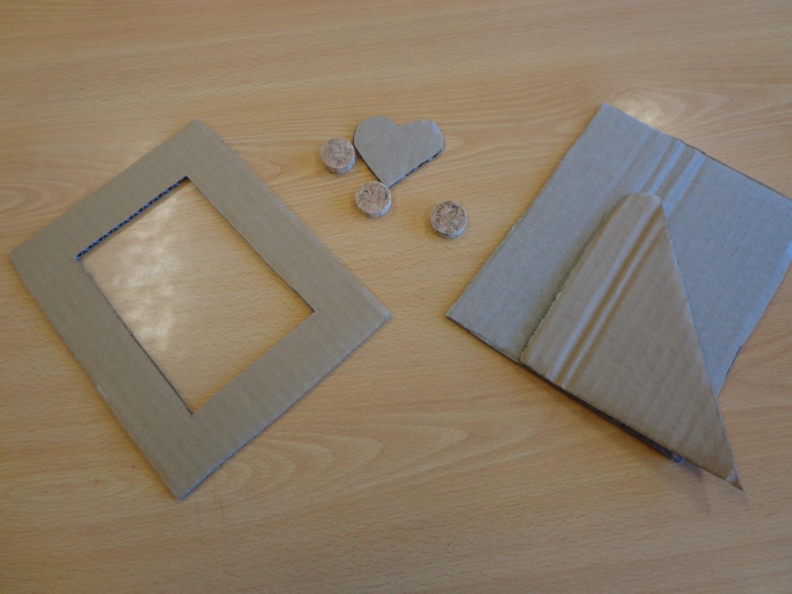 Reuse Crafts: Cardboard Picture Frame Craft