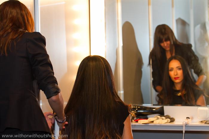 Blogger de moda withorwithoutshoes con la estilista de Rowenta en la MBFWM
