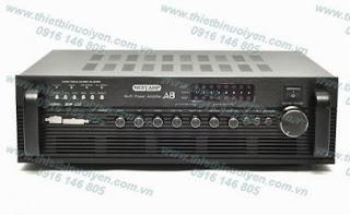 NestAmp A-8 Swiftlets Amplifier - Âm ly dùng trong nhà Yến Tải đươc5 500 loa trong nhà Yến. Thông số kỹ thuật: Công suất (Power Output): 4 x 100W (4ohm) Đáp tuyến tần số (Frequency Response): 1W +/-0.2 dB (20Hz~20KHz) Tỉ số tín hiệu trên tạp âm (S/N Ratio - Signal to Noise Ratio: 92dB Điện thế: 240V 50Hz Kích cỡ: 430cmx 130cmx 325cm Nặng: 9kg.