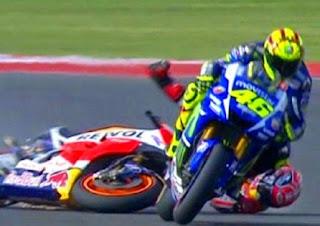 Rossi Dinyatakan Bersalah Jatuhkan Marquez