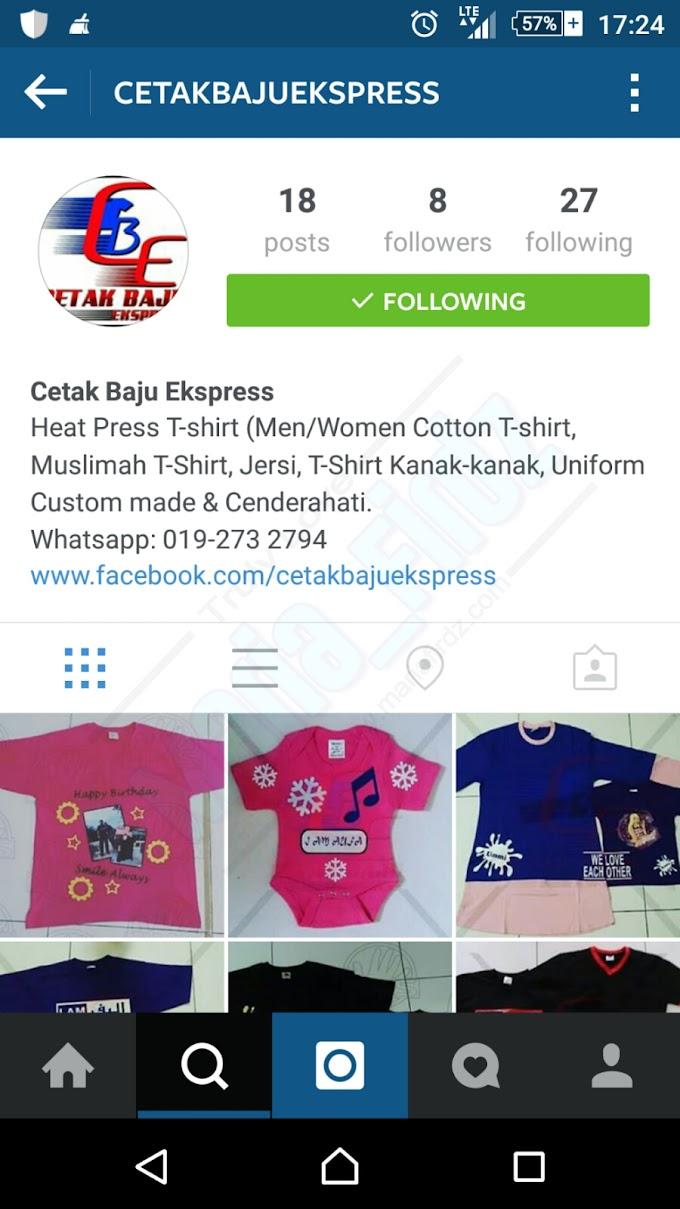 Jom.. Jemput Follow Instagram Kami...