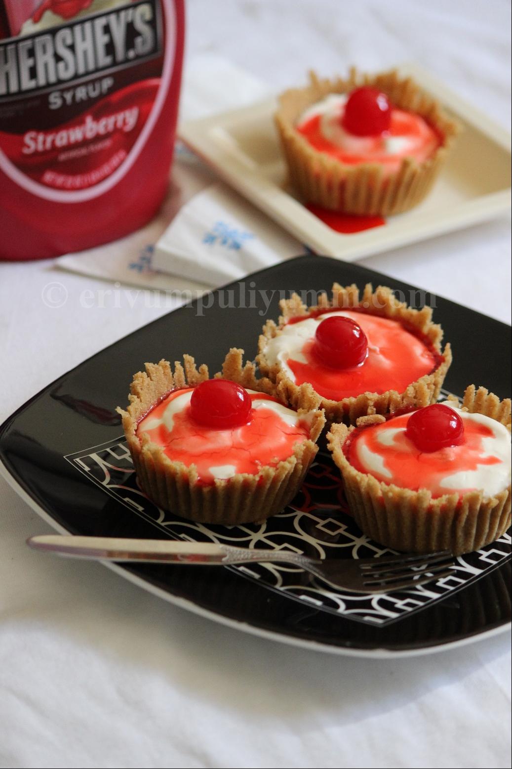Erivum Puliyum: Mini Cheesecakes (No Bake)