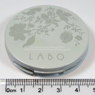 Labo Make-Up - Pure Flower Compact Eye-shadow Duo n.03 Olive green/Aqua green - dimensioni
