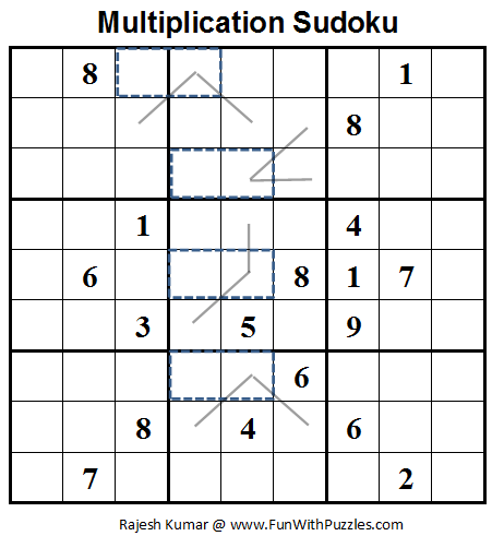 Multiplication Sudoku  (Fun With Sudoku #23)