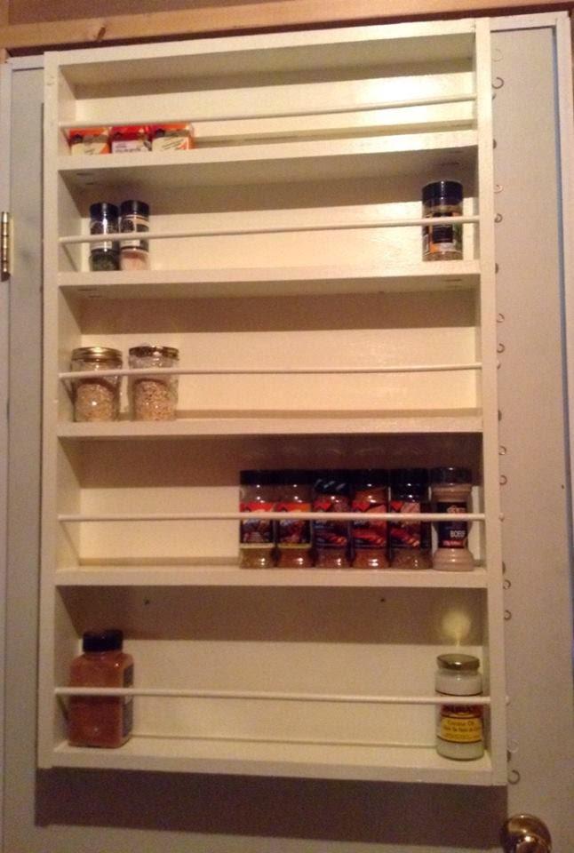 Ana White Door Spice Rack