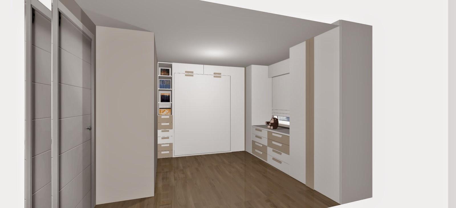 Dise o de cuartos o dormitorios juveniles - Dormitorio juvenil cama abatible ...