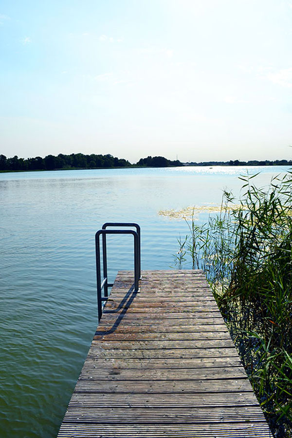 wunderschöner Ausblick auf den See vom Steg ... hauptstadtpuppig sommerliebe