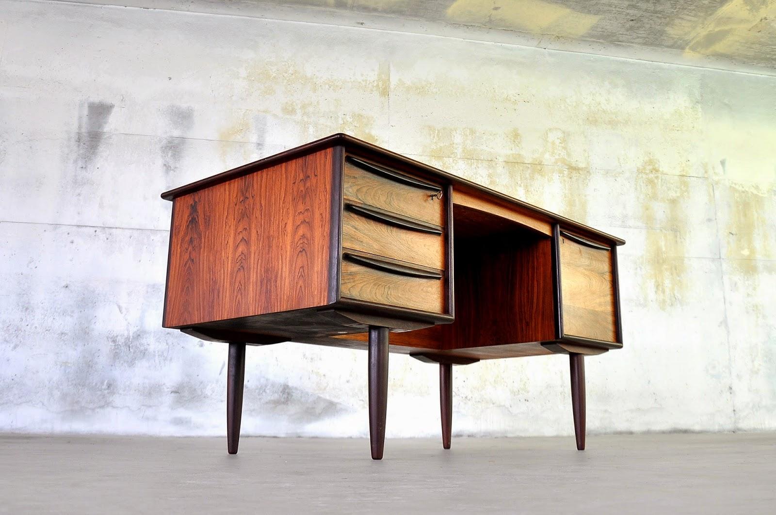 Select Modern Danish Modern Rosewood Desk