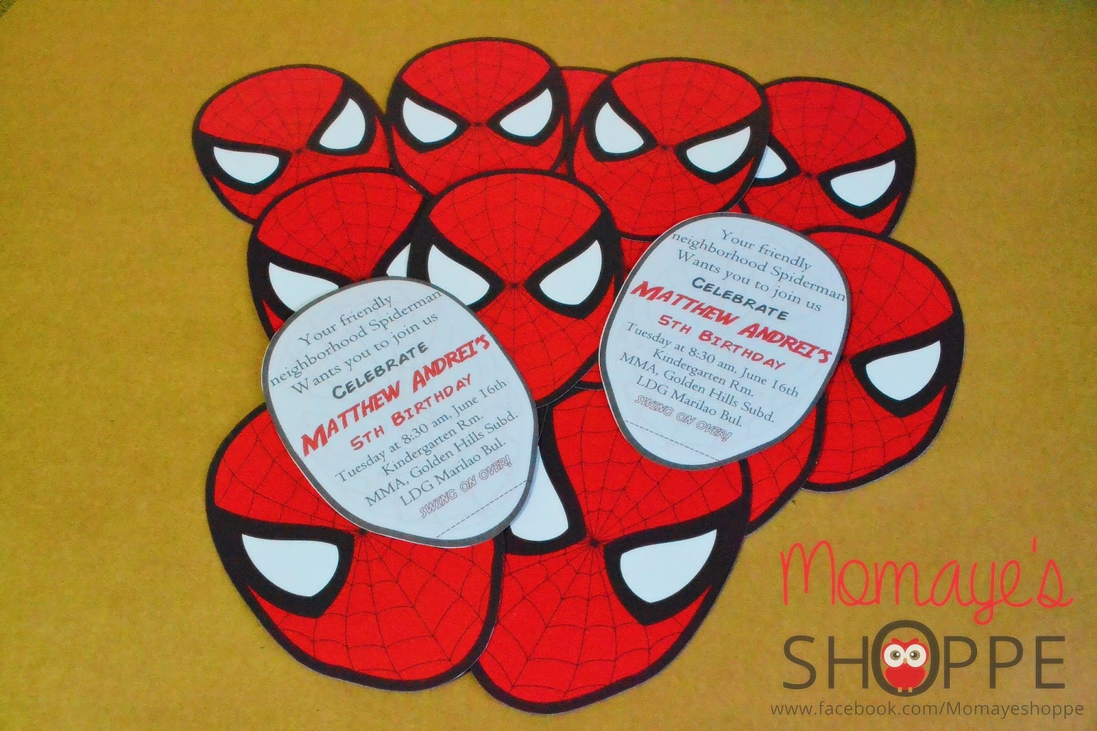 DIY Spideman Invitation