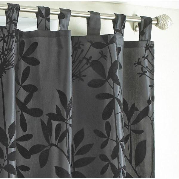 rideau moderne noir