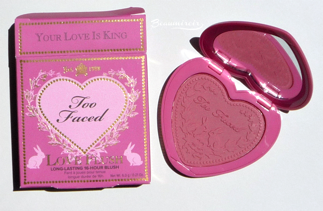 Too Faced Love Flush Long-Lasting Blush Review, Photos, Swatches: Baby Love and Your Love Is King