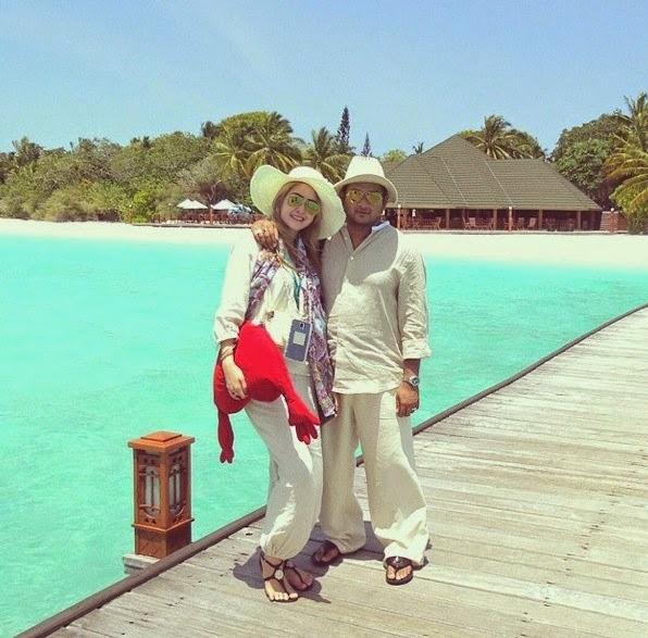 Eina Azman & Suami Berbulan Madu Di Maldives!, info, terkini, hiburan, Eina Azman, Datuk Paduka Kaiser Gurmeet Harden