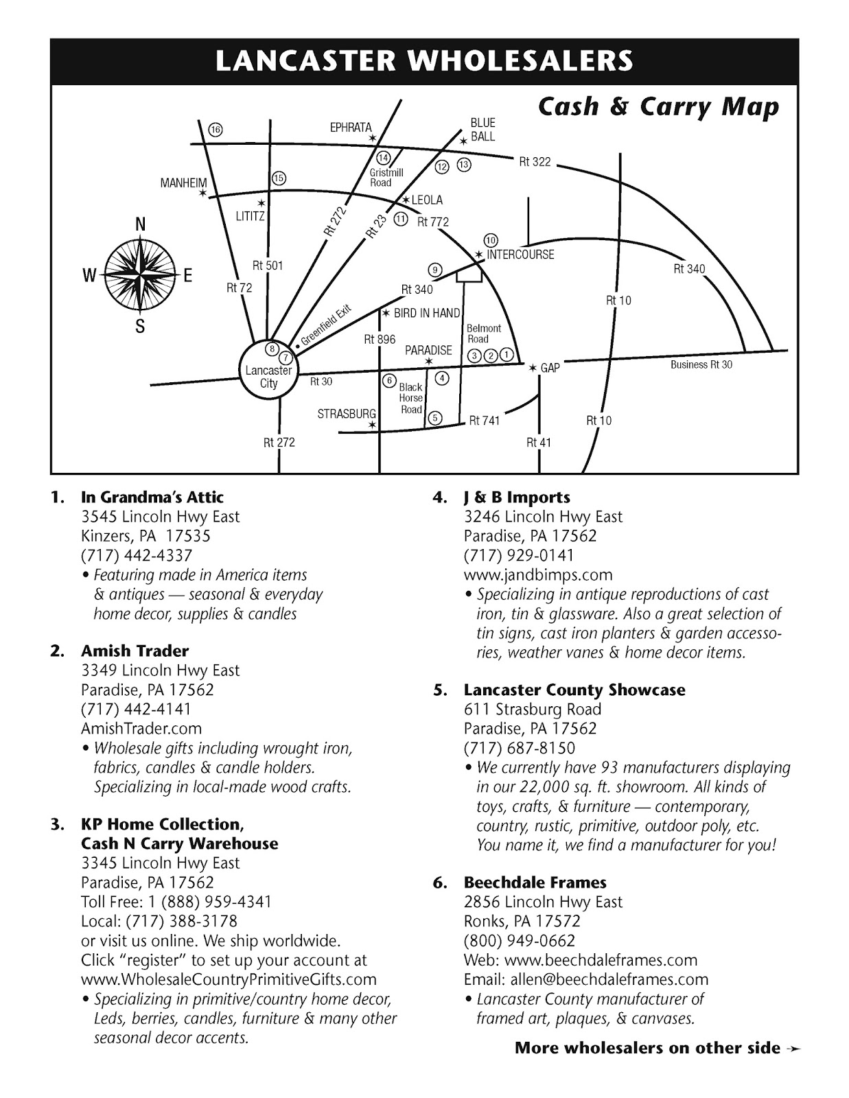 2015 lancaster wholesale map update