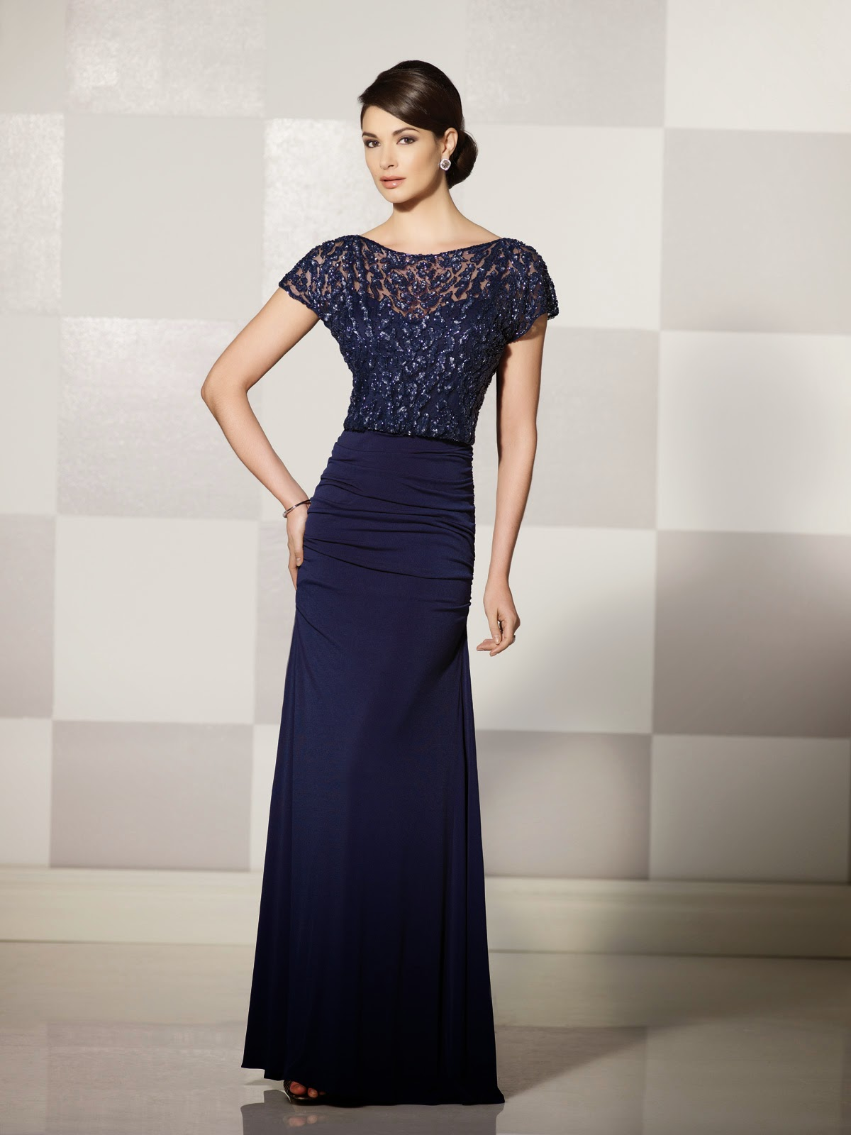 Mother of the Bride Dresses by Cameron Blake Fall 2014 blue black