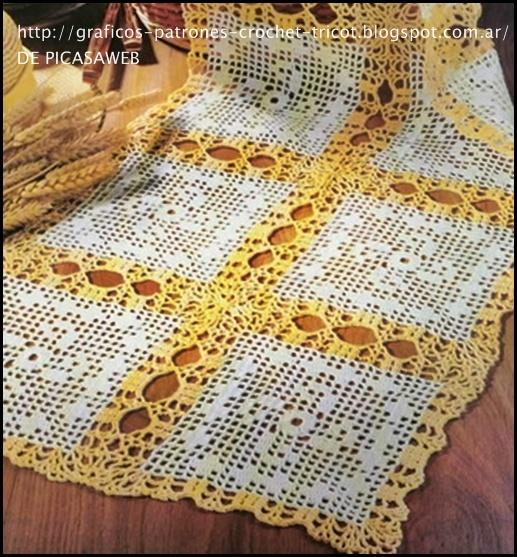 Cuadros tejidos para mantel a gancho - Mantel de crochet ...