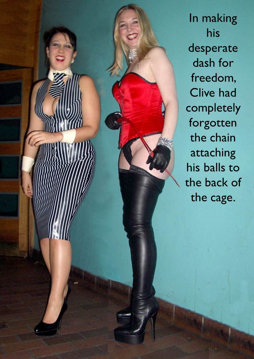 Two strict riding mistresses burn and whip their slave 7