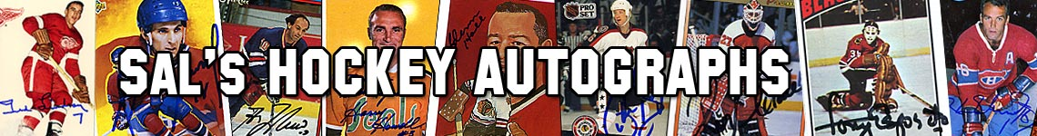 Sal's Hockey Autographs