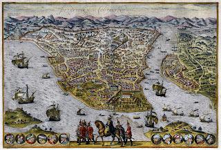 J. Janssonius - Karta Carigrada iz 1640.