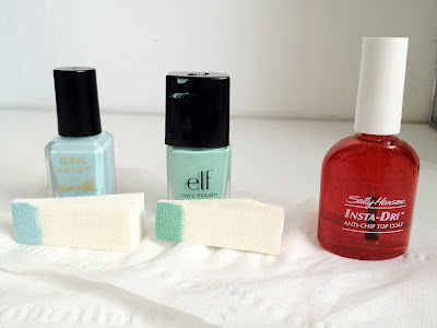Sally Hansen Insta-Dri, Sally Hansen, anti chip, top coat, nail varnish, ELF, eyes lips face, mint cream, nail polish, Barry M, Barry M nail varnish, Blue Moon