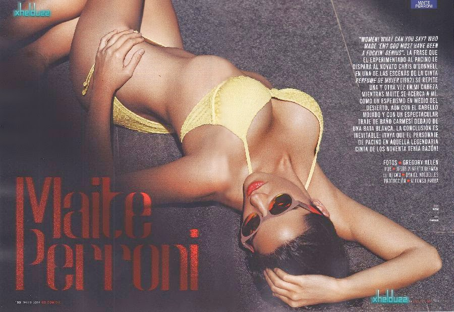 Maite Perroni isn't shy about baring it all and she put her cheeky side on show which flaunted her toned and taut stomach by perfectly for May‭ ‬2014‭ ‬Issue of GQ Mexico.