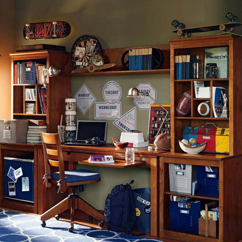 Teen Boy Room Ideas with Desk 500 x 500