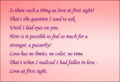 Amazing Quotes About Love At First Sight : Love Poems Beautiful Love Poetry Romantic Poems